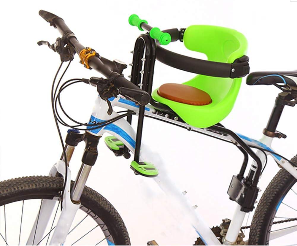 JT Fahrrad Kindersitz Vordersitz Sicherheitsst/ütze Gesicherter Kindersitz Vorne Mountainbike Kindersitz