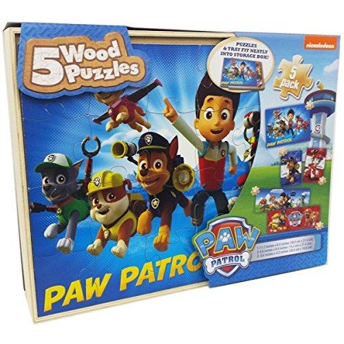 PAW PATROL Patte Patrouille 6032978 4 Puzzle en Bois