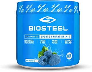 Biosteel High Performance Sports Drink Powder, Naturally Sweetened with Stevia, Blue Raspberry, 140 Gram