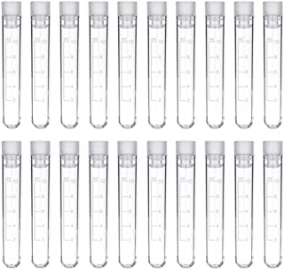 Test Tube - 50pcs 10ml Graduated Plastic Test Tubes with Caps, 16×105mm by DEPEPE
