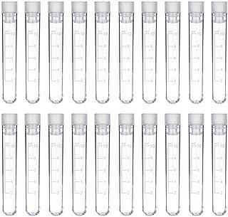 لوله آزمایش DEPEPE ، 50 قطعه 10 میلی لیتر لوله های پلاستیکی فارغ التحصیل با کلاه ، 105 16 16