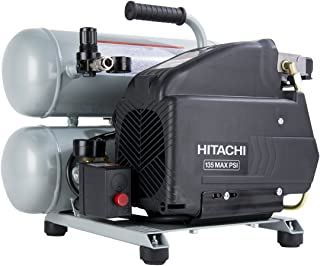 Hitachi EC99S 4 Gallon Portable Electric Twin Stack Hot Dog Air Compressor