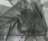 Tüllstoff, 140cm breit, Schwarz