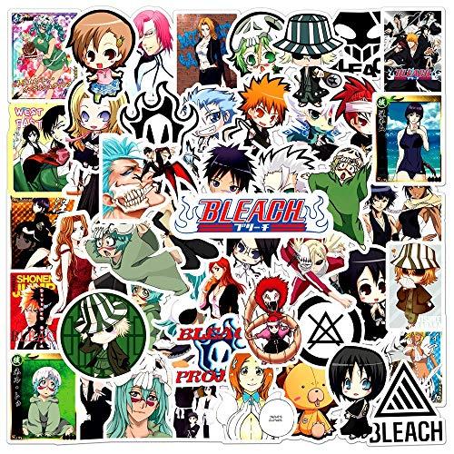 YZFCL Pegatinas de Anime, Juguete de Regalo para niños, Pegatina de Dibujos Animados para Bricolaje, Bicicleta, Nevera, papelería, Guitarra, 50 Uds.