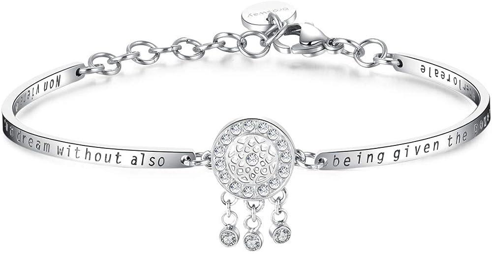Brosway chakra trendy bracciale donna  in acciaio e cristalli swarovski BHK160