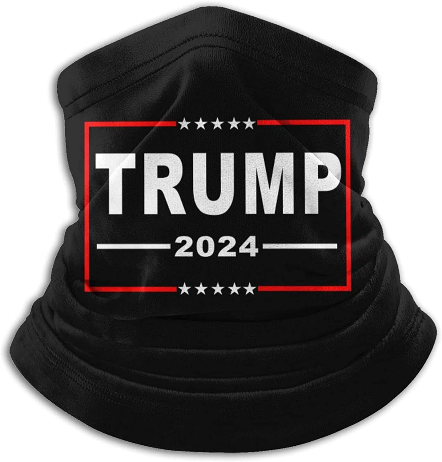 Trump-2024 unisex winter neck gaiter face cover mask, windproof balaclava scarf for fishing, running & hiking