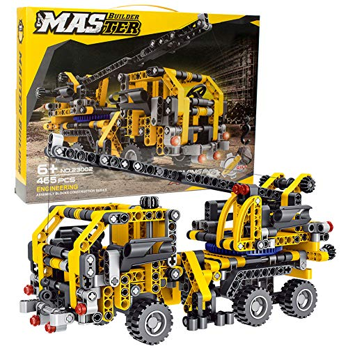 BIRANCO. Crane Truck Building Kit - Educational Learning STEM Building Blocks Toys Gifts for 8, 10, 12 yr Old Kids, Engineering Construction Set for Boys & Girls Age 6, 7, 9, 11, 13 Years Up