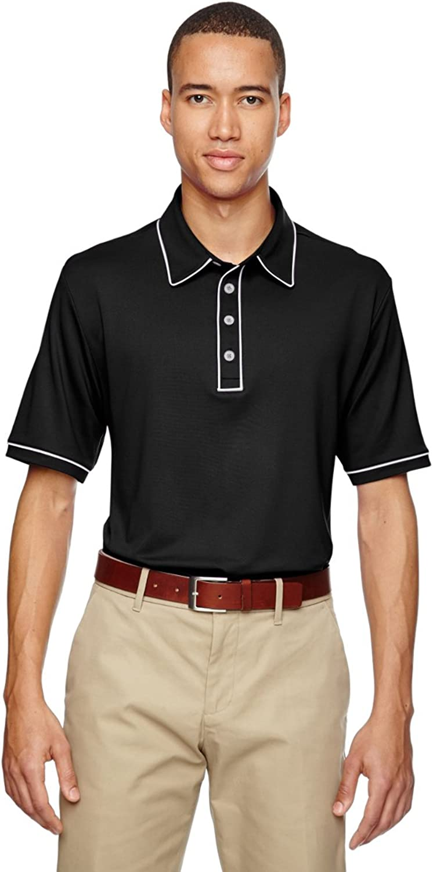 AD Mens Piped Polo (Black) (M)
