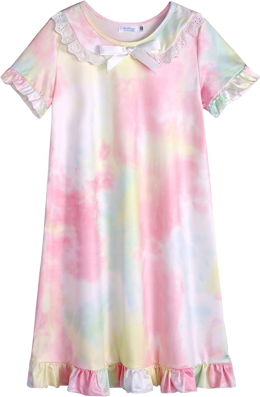 Arshiner Girls Princess Nightgown Kids Nightdress Summer Sleepwear Pajamas Dress