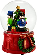 Kurt S. Adler J3257 100mm Wind-Up Musical Nutcracker Snow Globe
