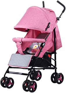 Baby Stroller, Baby Car,Travel Pram Stroller Can Sit Reclining Light Foldable Baby Carriage Toddler Seat Stroller (Color : E)