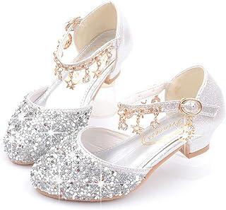 Chaussures de Danse en Paillettes Brillant pour Filles,Alaso Fille Mary Janes Chaussures de Princesse pour Bapt/ême Ceremonie Mariage Soir/ée