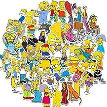 50PCS American Anime The Simpsons Sticker Cartoon Stickers for Sticker on Travel case Laptop Skateboard Fridge Phone