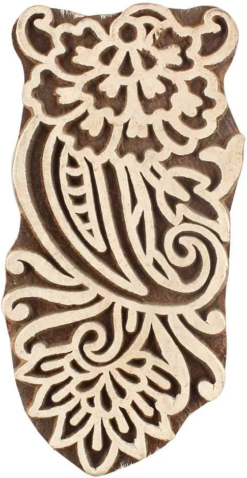 IndianShelf Handmade Brown Set of 1 Special price for a limited time Piece New Low price Wooden Bl Printing