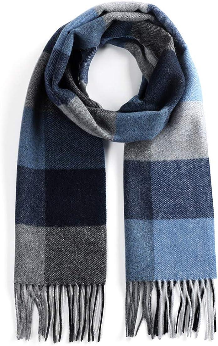 Unisex 100% Cashmere Scarf for Men Women Warm Winter Scarves