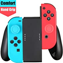 Customized Controller Hand Grip Compatible Nintendo Switch Joy Con with 2pcs Thumbstick Caps Include