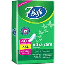 7 Soft Ultra Care XXL Sanitary Pad Napkins With Wings For Women ( Pack Of-1 , 40 Pads )