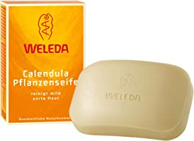 WELEDA Calendula Pflanzenseife, vegane Naturkosmetik Handseife mit ätherischen Ölen reinigt und pflegt die Haut...