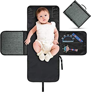 Volador Extra Large Baby Diaper Changing Pad Portable, Infant Nappy Changing Mat, Diaper Clutch for Travel, Foldable Baby Changing Station with Head Cushion - Lightweight