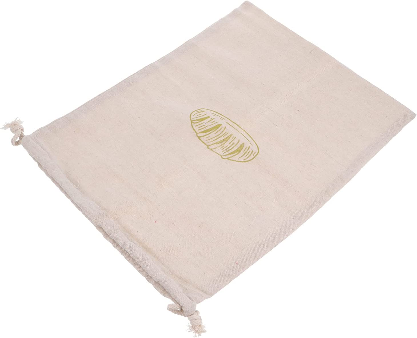 Luxshiny Natural Produce Bags 1 year warranty Linen Bread Fresno Mall Drawstring Bag S