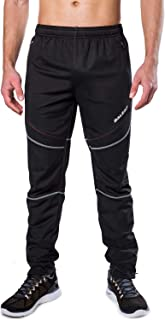 BALEAF Men's Bike Cycling Pants Windproof Running Hiking Outdoor Winter Fleece Thermal Athletic Pants