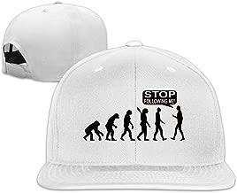 Funny Evolution Stop Following Me Snapback Hats Flat Brim Baseball Hats