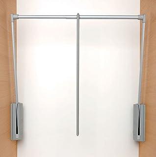 comprar comparacion Barra para armario regulable, gris, compatible con armarios Servetto, 77–120 cm