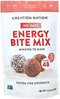 No-bake Protein & Energy Bite Mix - Makes 48 Protein Balls, 7-9g protein/ serv, tastes like a chocolate coconut cookie! Ke...
