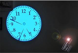 12//24 Heures Port de Charge USB PopHMN R/éveil /à Projection r/étro-/éclairage aliment/é par Batterie 2 alarmes Horloge de projecteur /à Affichage /à LED pour Chambre et Bureau temp/érature et Date