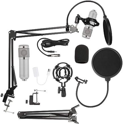 Asiproper - Microfono a condensatore USB BM 800 da Studio, 3,5 mm, condensatore Audio Professionale con Cavo di Registrazione, per Karaoke e con Supporto per Computer Argento Argento - Trova i prezzi più bassi