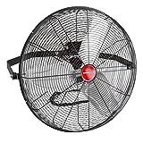 OEMTOOLS 24896 24 Inch High-Velocity Wall Mount Fan, Indoor/Outdoor Patio Fan, Black Fan