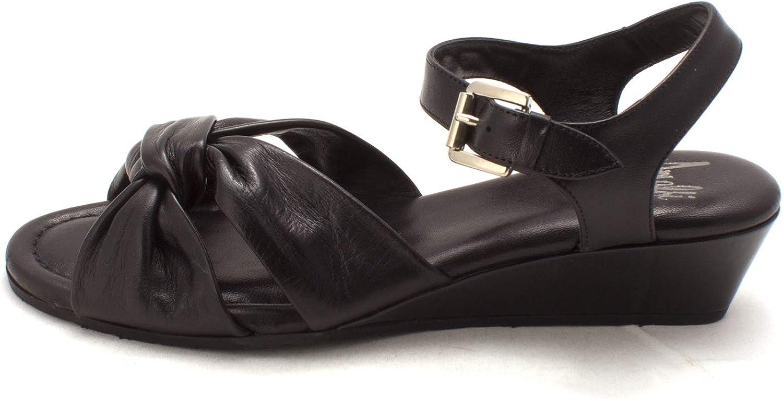 Amalfi By Rangoni Womens Mandy Open Toe Casual Ankle Strap, Black, Size 7.5