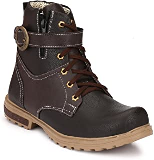 SHOE DAY Synthetic Leather Casual Boots for Men