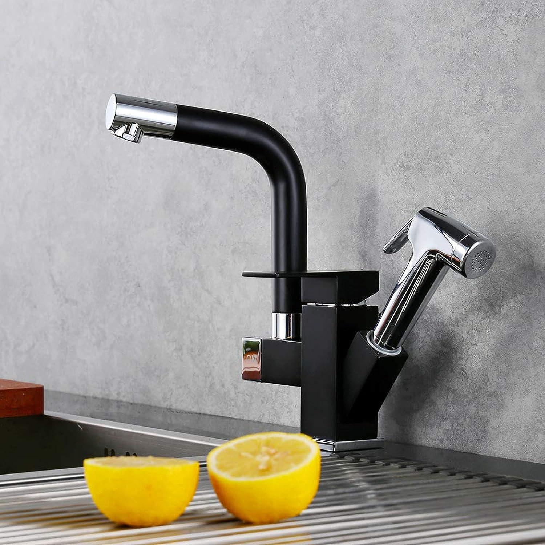 Homelody schwarz Küchenarmatur 360° drehbar Wasserhahn Küche Armatur mehrfunktional Spültischarmatur Mischbatterie Spüle mit herausziehbarem Brause Küchenmischer