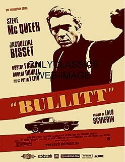 OnlyClassics 1968 Detective COP Steve McQueen Bullitt Ford Mustang GT CAR 8.5X11 Movie Poster