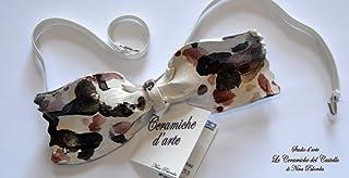 Papillon in Ceramica - Linea Fantasia – Pezzo Unico – Handmade- Le Ceramiche del Castello