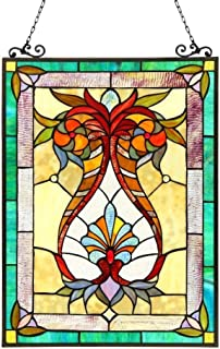 Chloe Lighting Tiffany Style Victorian Design Window Panel/Suncatcher