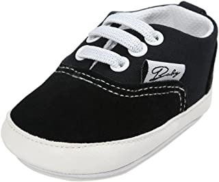 HLM Baby Shoes for Kids for Infant Newborn Girl Girls boy Boys Kids Babies Toddlers Dress Tennis Walking Running Size 4 5 Black White Pink Shoes Sneakers( 5.11-12-18 Months 4.Black Size 3 )