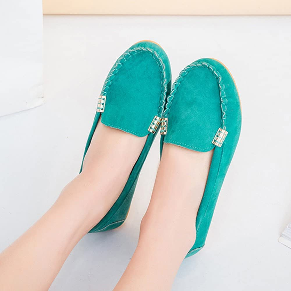 Lurryly Womens Flats Ladies Fashion Comfy Ballet Shoes Soft Slip-On Casual Boat Shoes/2019 Clearance!