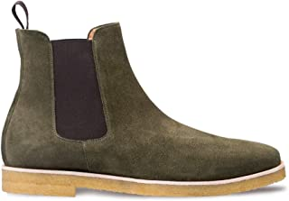 Mezlan Engel - Mens Luxury Clean Plain Toe Chelsea Boot - Soft, Rich English Suede and Double Gore for Easy Fitting - Hand...