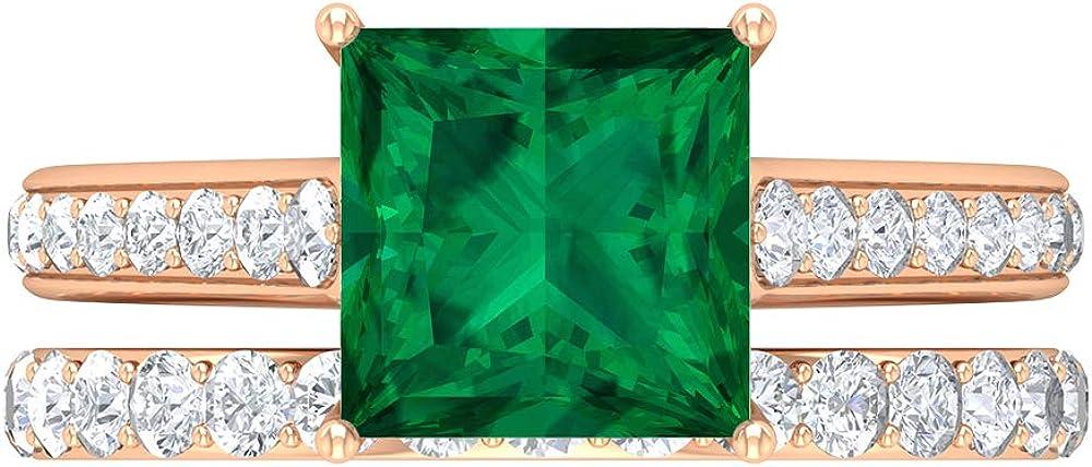 Rosec Jewels - Max 54% OFF 8 MM Princess Cut Tourmaline Green Max 57% OFF Ring Solitaire