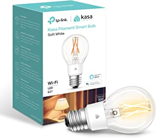 Kasa Smart Bulb by TP-Link, WiFi Filament Light Bulb, E27, 7W(60W equiv.), No Hub Required, Works with Alexa (Echo and Ech...