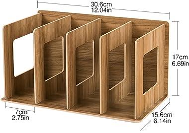 Lot de 2 supports de rangement en bois pour CD - DVD - Livres - Anna Shop, Bois, Couleur bois de cerisier., 30.5*15*17cm