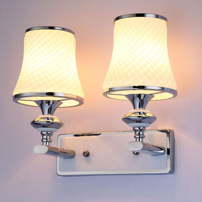 SACYSAC Wandleuchte Schlafzimmer nachttischlampe led Wandleuchte Einzel- und doppelkopf Balkon Wandleuchte,B