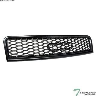 Topline Autopart Matte Black RS-Honeycomb Mesh Front Hood Bumper Grill Grille ABS For 02-05 Audi A4 / 04-05 S4 B6