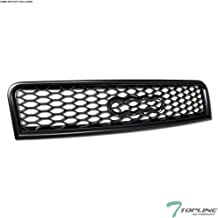 Topline Autopart Matte Black RS-Honeycomb Mesh Front Hood Bumper Grill Grille ABS For 02-05 Audi A4 / 04-05 S4 B6