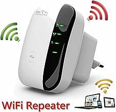 Repetidor Wi-Fi Amplificador extensor inalámbrico de largo alcance Wireless-N 300Mbps Mini punto de acceso AP WLAN IEEE802.11N / G / B Router de red Amplificador de señal 2.4GHz Adaptador de red anten