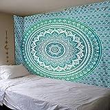 India Mandala Tapiz Negro Blanco Ombre Mandala Hippie Bohemio Colgante de Pared Hogar Mural Tapiz Dormitorio Decoración del hogar