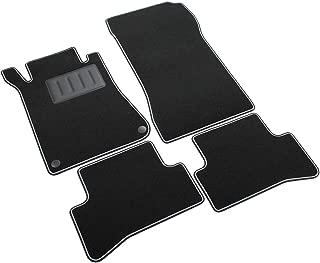 I Tappetto Auto SPRINT02905 - Alfombrillas de moqueta para el coche, color negro, antideslizantes, borde bicolor, talonera reforzada con goma
