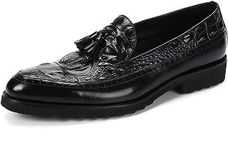 [WEWIN] タッセルローファー メンズ ビジネス 本革 クロコダイル柄 モカシン ドライビングシューズ オペラシューズ 革靴 カジュアル 紳士靴 ファッション
